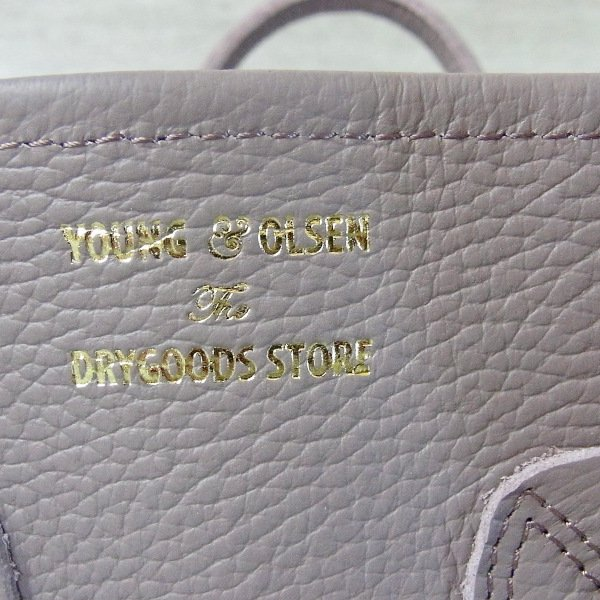 YOUNG & OLSEN The DRYGOODS STORE | EMBOSSED LEATHER TOTE M(ANTLER)