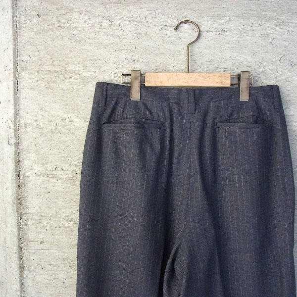 DIGAWEL | WOOL STRIPE WIDE PANTS(GRAY)