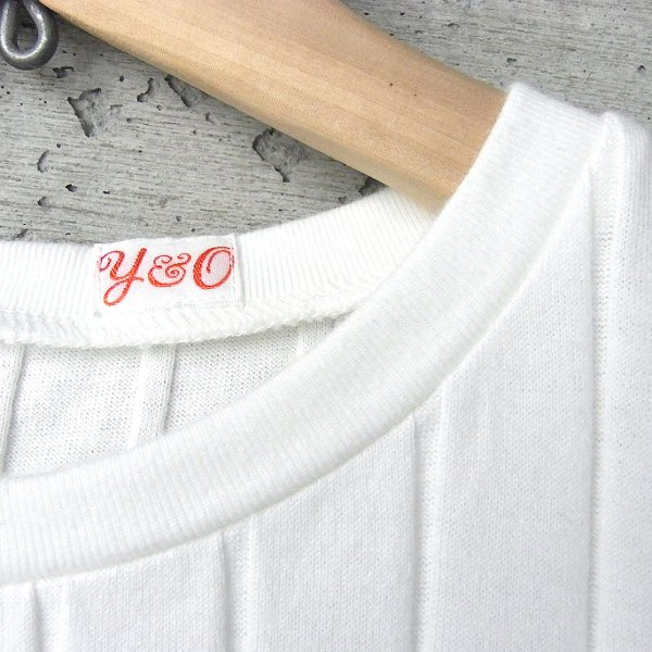 YOUNG & OLSEN The DRYGOODS STORE | BROAD RIB CREW NECK(WHITE)