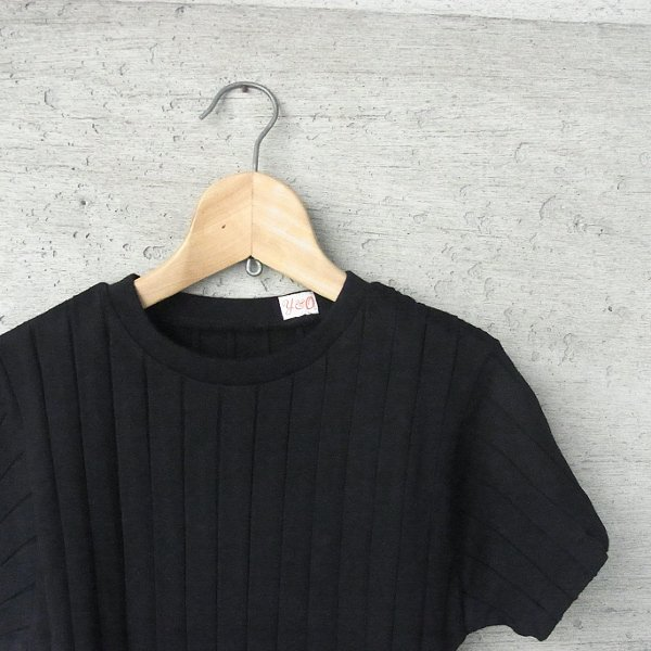 YOUNG & OLSEN The DRYGOODS STORE | BROAD RIB CREW NECK(BLACK)
