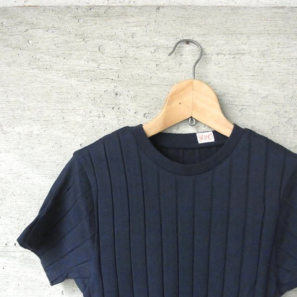 YOUNG & OLSEN The DRYGOODS STORE | BROAD RIB CREW NECK(NAVY)