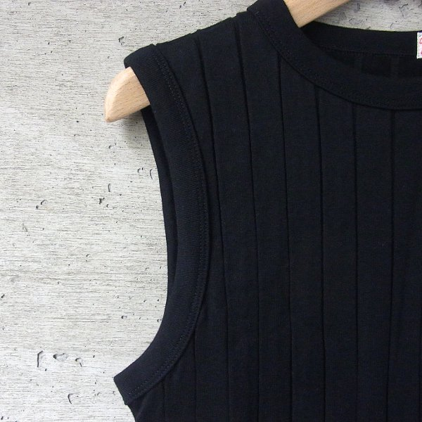 YOUNG & OLSEN The DRYGOODS STORE | BROAD RIB TANK TOP(BLACK)