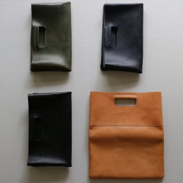 ZODIAC <h3>Leather Clutch Bag/レザークラッチバック