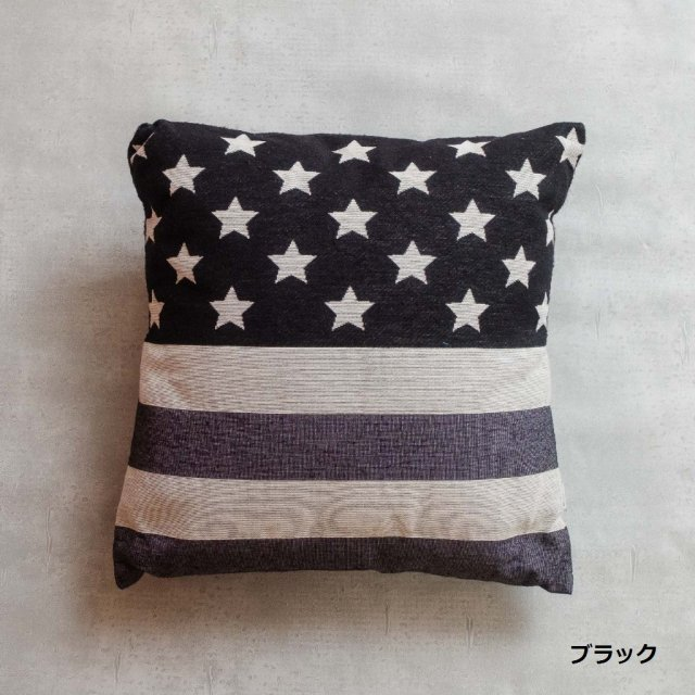 CROSS CANVAS <h3>U.S Flag JQ Cushion/U.Sクッション