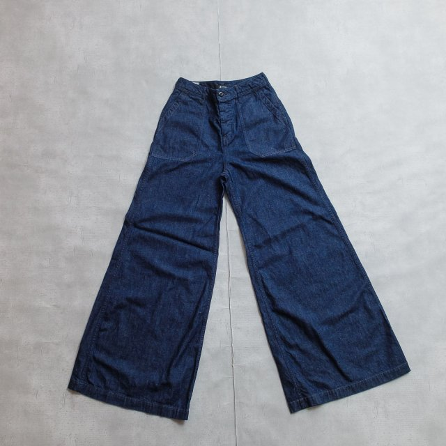 JOHNBULL <h3>Women's Wide Navy Pants/ワイドバギーパンツ