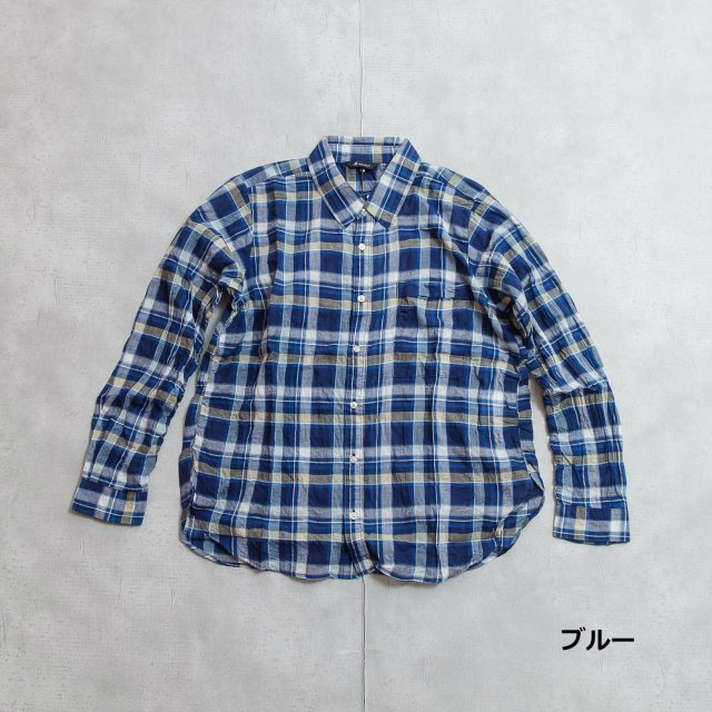 JOHNBULL <h3>Women's Shirring Check Shirt/シャーリングチェックシャツ