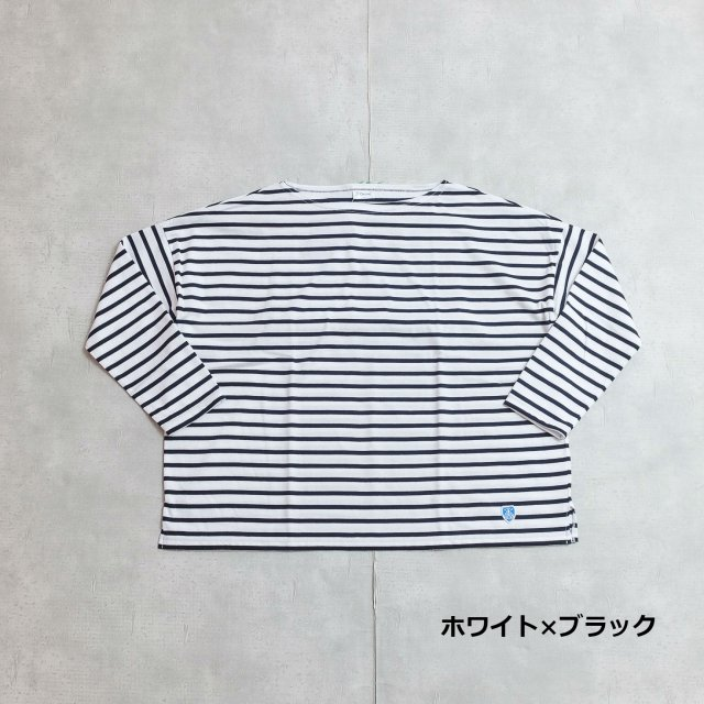 Orcival<h3>Women's Cotton Boat Neck Border Wide Tee/ボーダーワイド