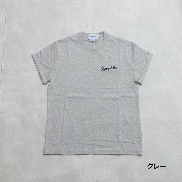Gymphlex <h3>Women's Combed Cotton Jersey S/S Tee/折り返し袖ロゴTシャツ