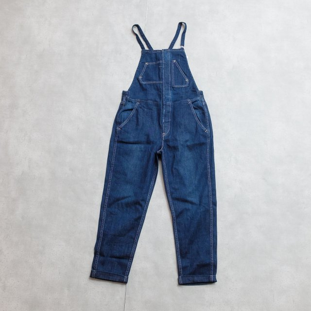 ANTGAUGE <h3>Women's Tapered Overall/ストレッチデニムサロペット