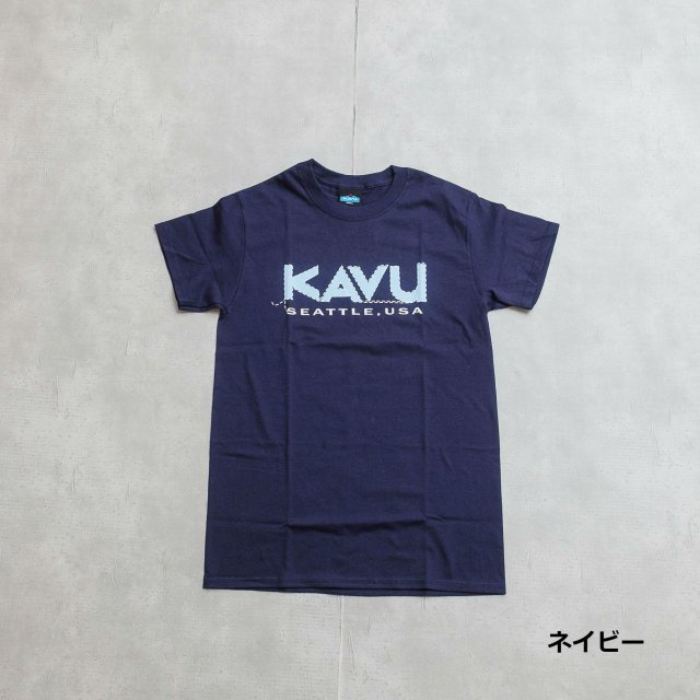 KAVU <h3>Stitch Logo T-Shirts/プリントTシャツ