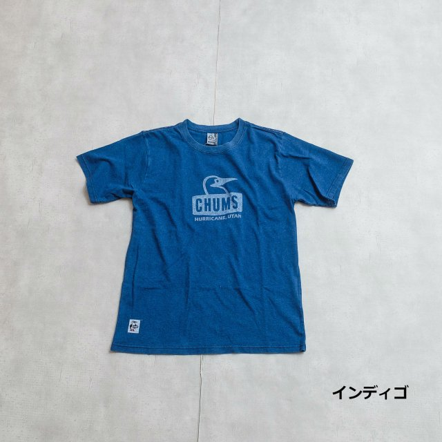 CHUMS <h3>Booby Face Indigo T-Shirts/ブービーフェイスTシャツ