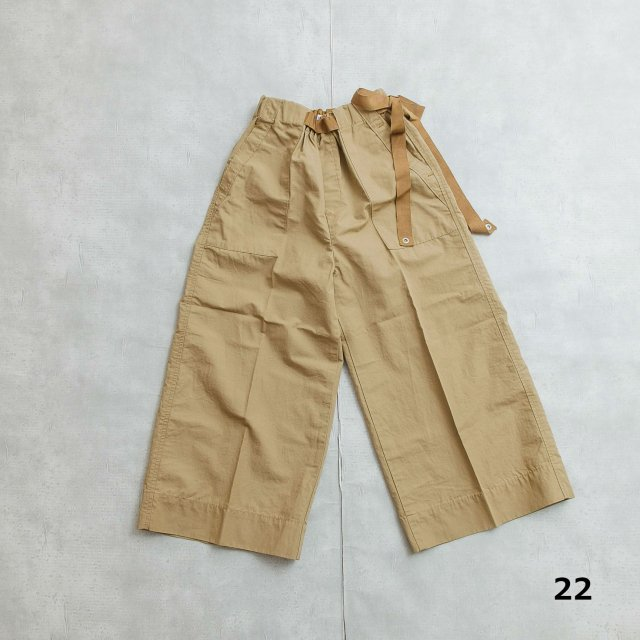 ANTGAUGE <h3>Women's Baker Wide cropped Pants /ベーカークロップドパンツ