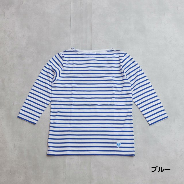 Orcival<h3>7Sleeve Boat Neck Border T-Shirts/ボートネックボーダーTシャツ