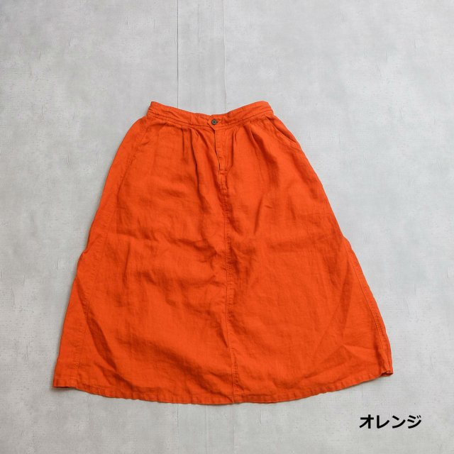 DMG <h3>Women's Linen Easy Skirt/タックイージースカート