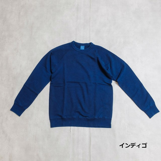 GOOD ON <h3>Men's Raglan Indigo Crew Sweat/クルーネックスウェット