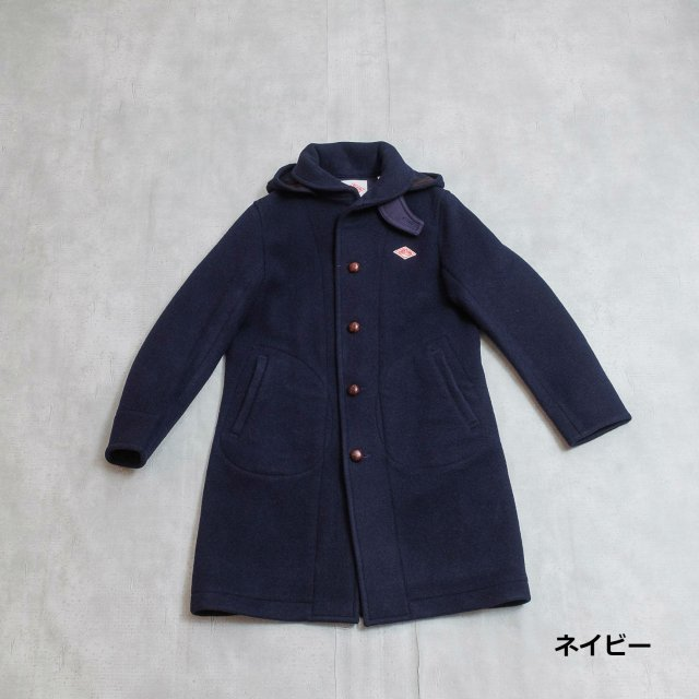 DANTON <h3>Women's Round Collar Hood Coat/ラウンドカラーコート