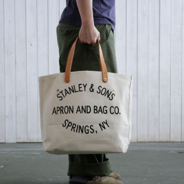 STANLEY & SONS <h3>Small Standard Logo Tote/ロゴトート スモールサイズ
