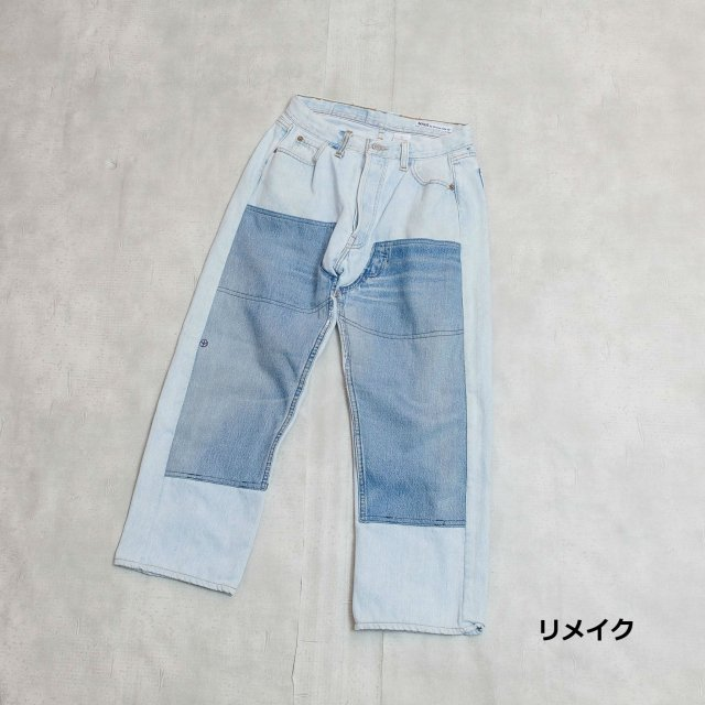 sunny side up<h3>Men's Remake W Knee Denim Pants/リメイクデニムパンツ
