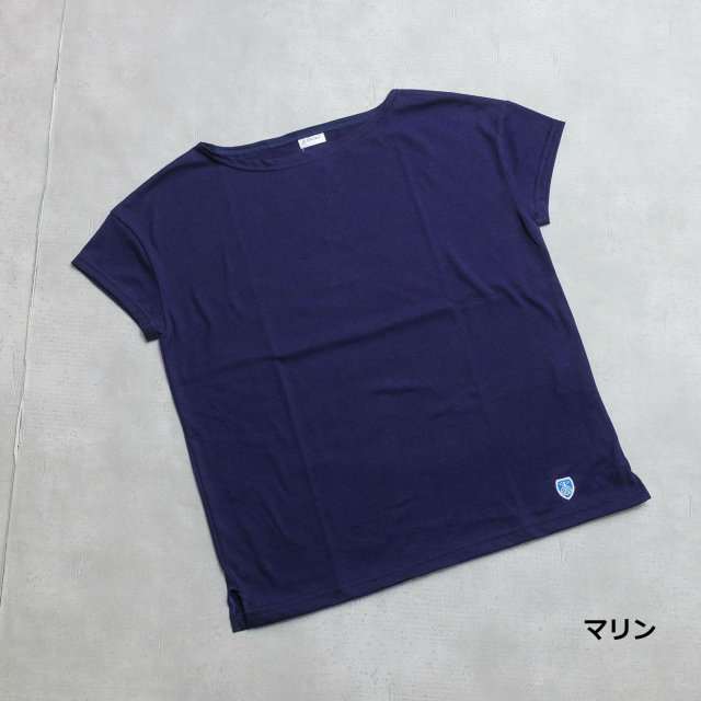Orcival<h3>Women's 40/2 Regular Stiripede DropShoulder Tee/ ドロップショルダーTシャツ