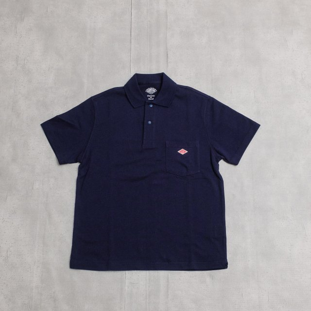 DANTON <h3>Men's Pocket Short Sleeve Polo Shirts/天竺ポロシャツ