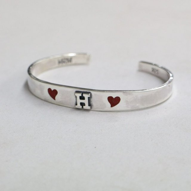 HOLLYWOOD RANCH MARKET <h3>Red Heart H Bracelet /レッドハートブレスレット