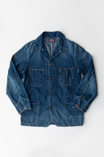 <b>BLUE BLUE</b><br>Light Denim Standard Coverall Jacket