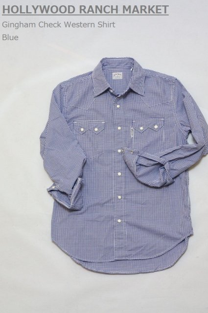 <b>BLUE BLUE</b><br>Gingham Check Western Shirt