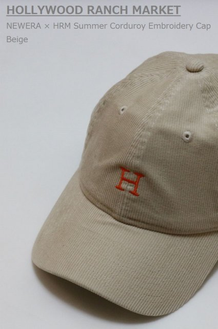 <b>HOLLYWOOD RANCH MARKET</b><br>NEWERA × HRM Summer Corduroy Embroidery Cap