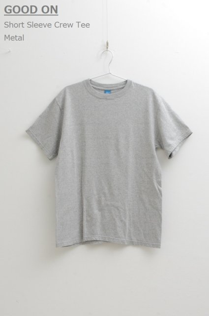 <b>GOOD ON </b><br>Short Sleeve Crew Tee Metal Grey