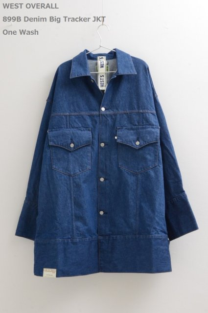 <b>WEST OVERALLS</b><br>899B Denim Big Tracker JKT
