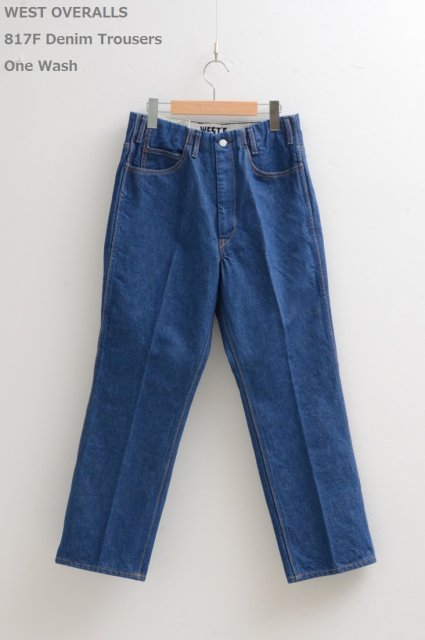 <b>WEST OVERALLS</b><br>817F Denim Trousers