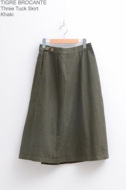 <b>TIGRE BROCANTE</b><br>Three Tuck Skirt