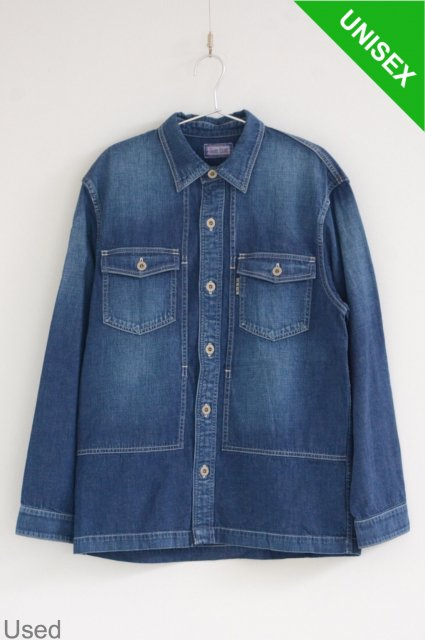 <b>HOLLYWOOD RANCH MARKET</b><br>Light Denim Wide Shirt Jacket