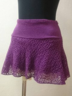 パンツ付メッシュスカート(裾シンプル)