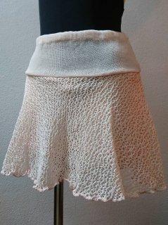 パンツ付メッシュスカート(裾ひらひら)丈長め