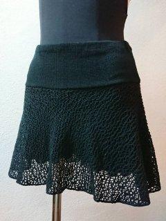 パンツ付メッシュスカート(裾シンプル)丈長め