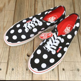 <img class='new_mark_img1' src='https://img.shop-pro.jp/img/new/icons50.gif' style='border:none;display:inline;margin:0px;padding:0px;width:auto;' />VANS ヴァンズ AUTHENTIC POLKA DOT BLK/WHT/RED スニーカー