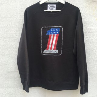12×JOHN'S SURF ジョンズサーフ 1st Anniversary CREW SWEAT BLACK