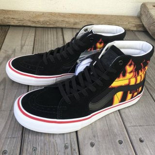 <img class='new_mark_img1' src='//img.shop-pro.jp/img/new/icons50.gif' style='border:none;display:inline;margin:0px;padding:0px;width:auto;' />VANS × THRASHER ブァンズ バンズ SK8-HI PRO BLACK FLAME LOGO