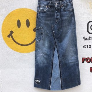 <img class='new_mark_img1' src='//img.shop-pro.jp/img/new/icons50.gif' style='border:none;display:inline;margin:0px;padding:0px;width:auto;' />ALOHA DENIM × JOHN'S SMILE 501remake skirt long
