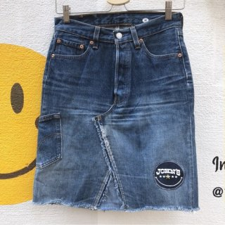 <img class='new_mark_img1' src='//img.shop-pro.jp/img/new/icons50.gif' style='border:none;display:inline;margin:0px;padding:0px;width:auto;' />ALOHA DENIM × JOHN'S SMILE 501remake skirt short