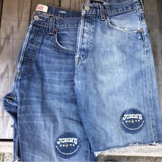 <img class='new_mark_img1' src='//img.shop-pro.jp/img/new/icons20.gif' style='border:none;display:inline;margin:0px;padding:0px;width:auto;' />ALOHA DENIM × JOHN'S SMILE 501remake shorts
