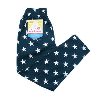 <img class='new_mark_img1' src='//img.shop-pro.jp/img/new/icons14.gif' style='border:none;display:inline;margin:0px;padding:0px;width:auto;' />Cookman クックマン Chef Pants 「Star」Navy