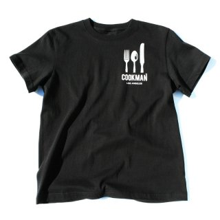 <img class='new_mark_img1' src='//img.shop-pro.jp/img/new/icons50.gif' style='border:none;display:inline;margin:0px;padding:0px;width:auto;' />Cookman クックマン T-shirts 「Flag」BLACK