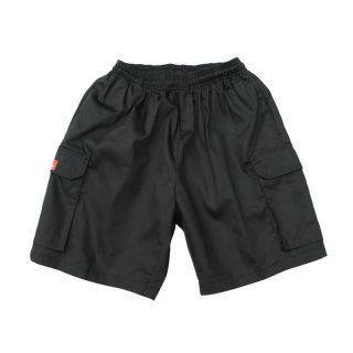 <img class='new_mark_img1' src='//img.shop-pro.jp/img/new/icons14.gif' style='border:none;display:inline;margin:0px;padding:0px;width:auto;' />COOKMAN クックマン Chef Short Cargo Pants BLACK