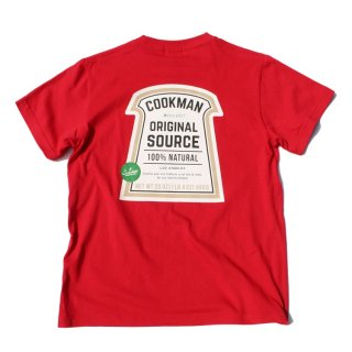 <img class='new_mark_img1' src='//img.shop-pro.jp/img/new/icons50.gif' style='border:none;display:inline;margin:0px;padding:0px;width:auto;' />Cookman クックマン T-shirts 「Original source」RED