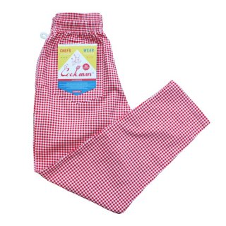 <img class='new_mark_img1' src='//img.shop-pro.jp/img/new/icons14.gif' style='border:none;display:inline;margin:0px;padding:0px;width:auto;' />Cookman クックマン Chef Pants 「Gingham」Red