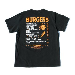 <img class='new_mark_img1' src='https://img.shop-pro.jp/img/new/icons14.gif' style='border:none;display:inline;margin:0px;padding:0px;width:auto;' />Cookman クックマン T-shirts  「Burgers menu」