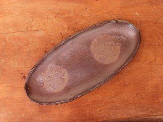備前焼 楕円皿・ぼた餅(約27cm)