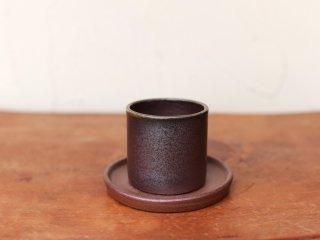 備前焼 ミニ植木鉢(受皿付き)